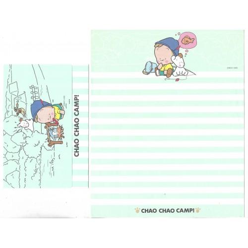 Conjunto de Papel de Carta Antigo (Vintage) Chao Chao Camp!