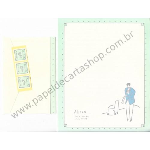 Conjunto de Papel de Carta Antigo (Vintage) Alison
