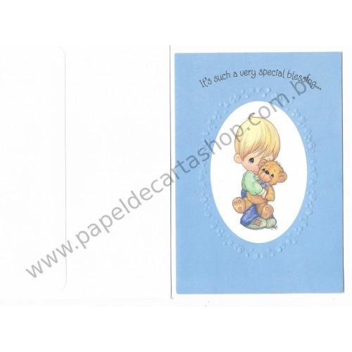 Ano 1996. Cartão Importado Precious Moments Very Special Blessing