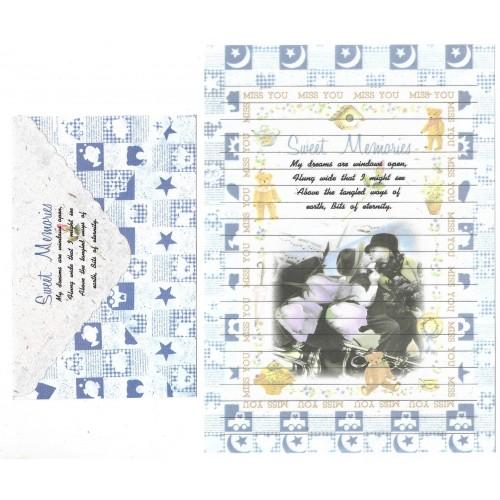 Conjunto de Papel de Carta Antigo Importado Sweet Memories P1009