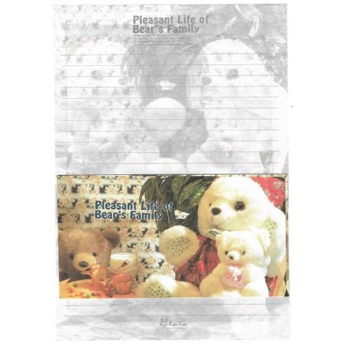 Conjunto de Papel de Carta Importado Bear's Family 4 Litte Fancy