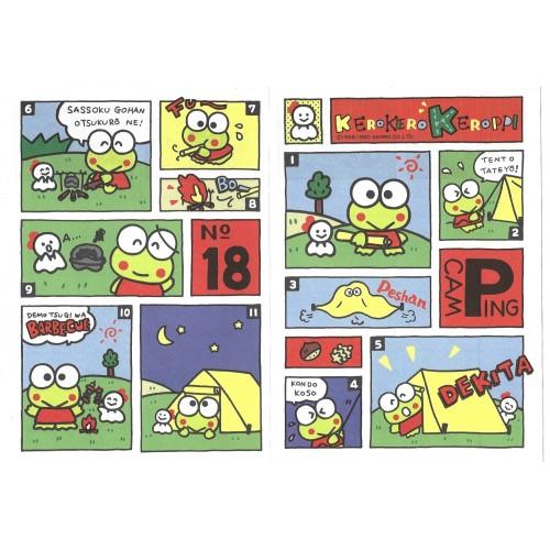 Ano 1990. Conjunto de Papel de Carta Keroppi M Vintage Sanrio