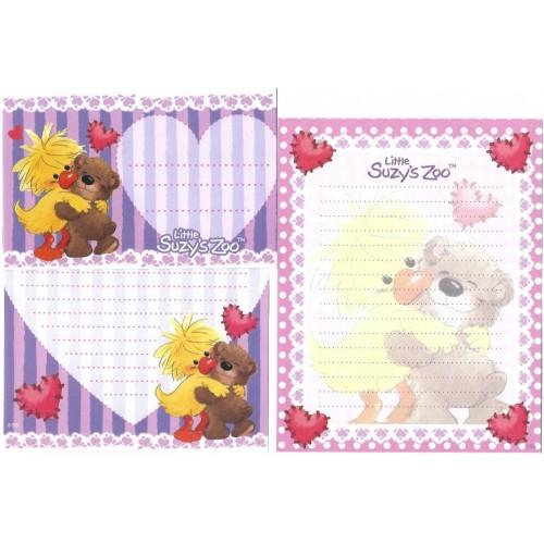 Ano 2010. Conjunto Papel de Carta IMPORTADO Suzy's Zoo 2