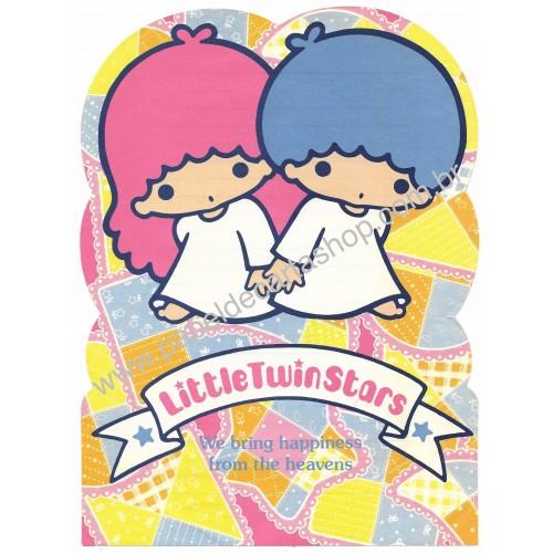 Ano 1976. Papel de Carta Little Twin Stars Patchwork Sanrio Japan