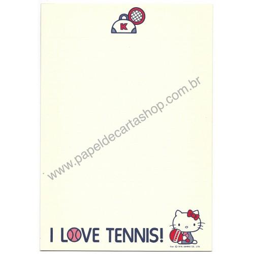 Ano 1976. Conjunto de Papel de Carta Hello Kitty Tennis 2 Vintage Sanrio