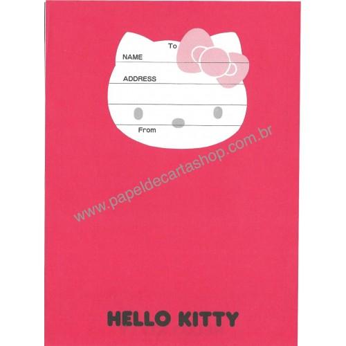 Ano 1987. Papel de Carta Hello Kitty FACE CVM Vintage Sanrio