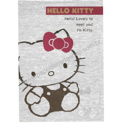 Ano 1987. Papel de Carta AVULSO Hello Kitty SILVER Vintage Sanrio