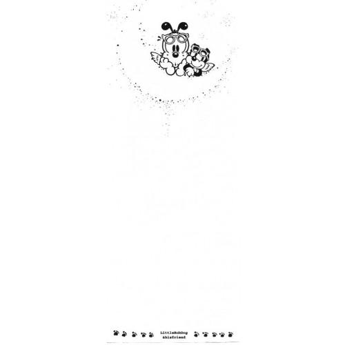 Papel de Carta Antigo (Vintage) Little Bobdog White Wealthyluck Sunward