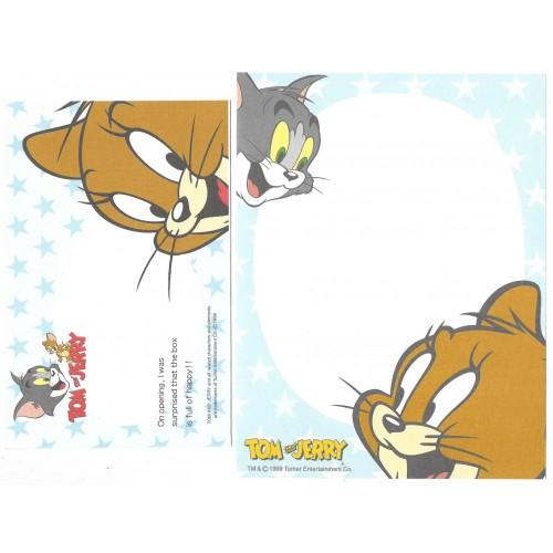 Ano 1999. Conjunto de Papel de Carta IMPORTADO Tom & Jerry CBL