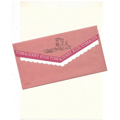 Ano 1993. Conjunto de Papel de Carta Importado Tom and Jerry Kids Red