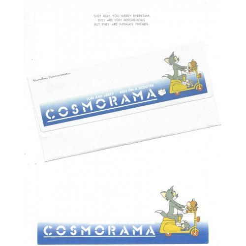 Conjunto de Papel de Carta Importado Cosmorama Tom and Jerry Scooter