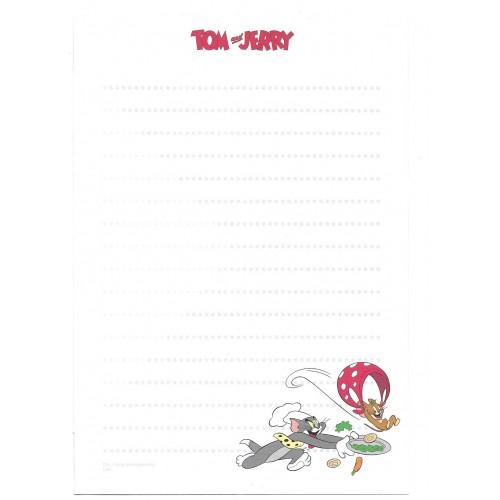 Conjunto de Papel de Carta Importado Tom and Jerry Etranger Di Costarica CVD