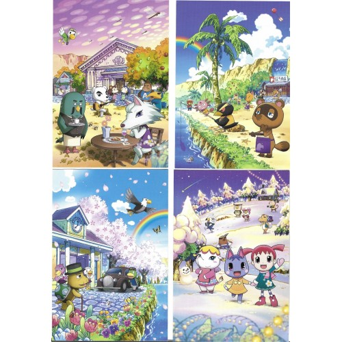 Kit 4 Postcards Postais Pocket Monsters Nintendo Japan