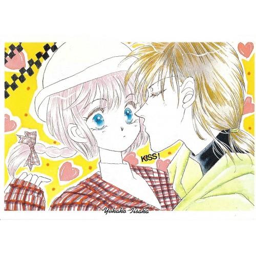 Ano 1992. Postcard Postal Kiss Scene SHO-COMI Yukako Isaka Japan
