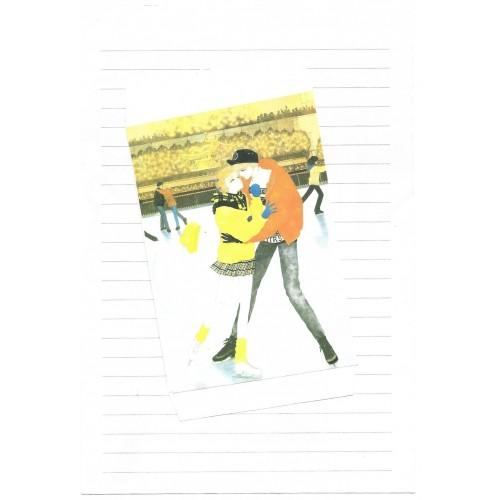Conjunto de Papel de Carta JOY AND HAPPINESS CAM