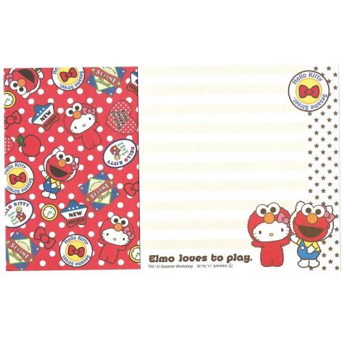 Ano 2011. Kit 4 Conjuntos de Papel de Carta Hello Kitty & Sesame Street Loves 1