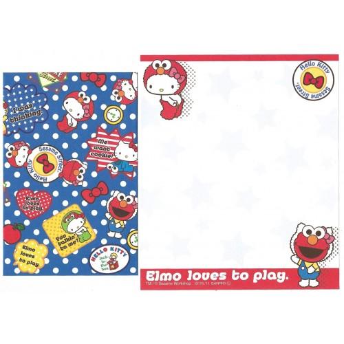 Ano 2011. Kit 4 Conjuntos de Papel de Carta Hello Kitty & Sesame Street Loves 2