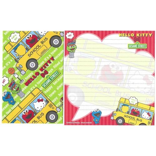 Ano 2011. Kit 4 Conjuntos de Papel de Carta Hello Kitty & Sesame Street Joy