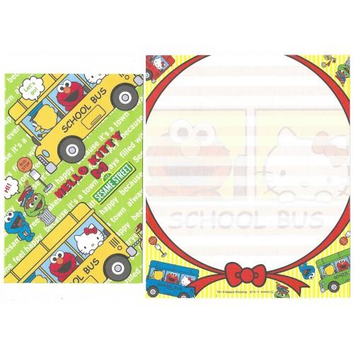 Ano 2011. Conjunto de Papel de Carta Hello Kitty & Sesame Street CAM 4 Sanrio