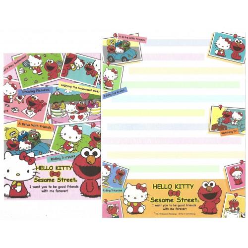 Ano 2011. Conjunto de Papel de Carta Hello Kitty & Sesame Street Forever 5 -1