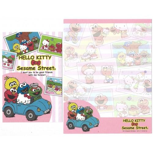 Ano 2011. Conjunto de Papel de Carta Hello Kitty & Sesame Street Forever 6