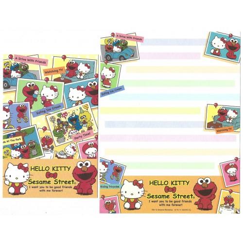 Ano 2011. Conjunto de Papel de Carta Hello Kitty & Sesame Street Forever 5-2