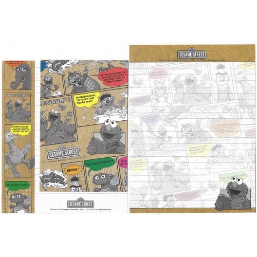 Conjunto de Papel de Carta IMPORTADO Sesame Street 27