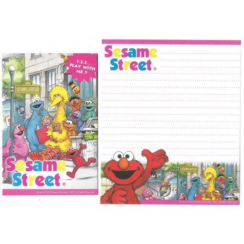 Conjunto de Papel de Carta IMPORTADO Sesame Street 28