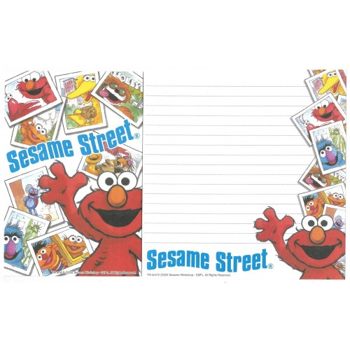 Conjunto de Papel de Carta IMPORTADO Sesame Street 29