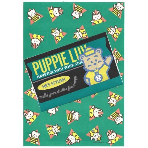 Ano 1979. Conjunto de Papel de Carta Puppie Luv CDV Vintage Sanrio