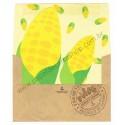 Ano 1983. Conjunto de Papel de Carta Fresh Vegetables Corn Sanrio