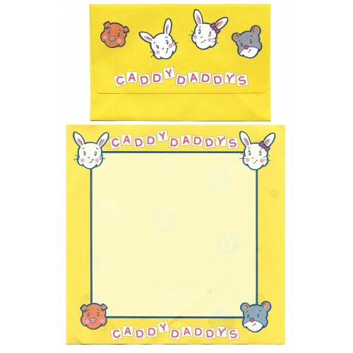 Ano 1979. Conjunto de Papel de Carta Caddy Daddy's Sanrio