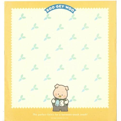 Ano 1984. Papel de Carta AVULSO BOO GEY WOO Fresh Menu CAM Vintage Sanrio