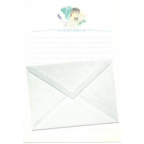 Ano 1989. Conjunto de Papel de Carta Keibun Ohta CAZ Märhen Collection Sanrio