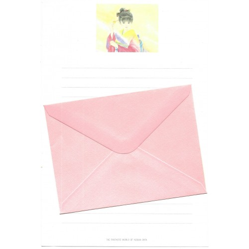 Ano 1989. Conjunto de Papel de Carta Keibun Ohta CRS2 Märhen Collection Sanrio