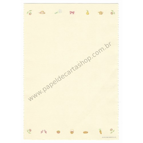 Ano 1985. KIT 3 Papéis de Carta Antigos Vintage Floral Poem Tree Sanrio
