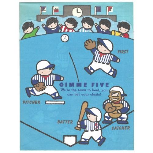 Ano 1988. Conjunto de 3 Papéis de Carta Gimme Five Vintage Sanrio