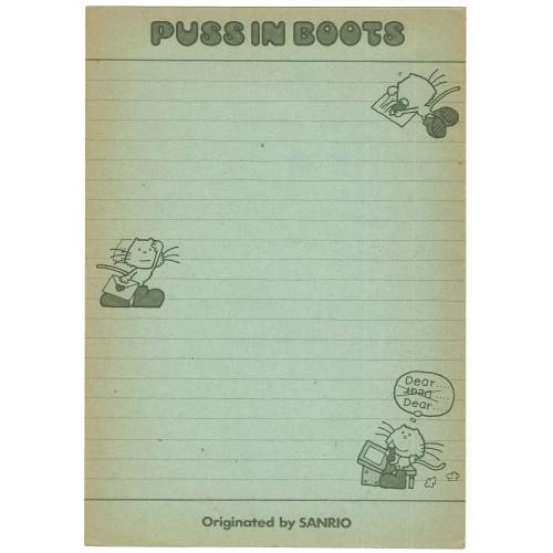 Ano 1975. Papéis de Carta AVULSO PUSS IN BOOTS Vintage Sanrio