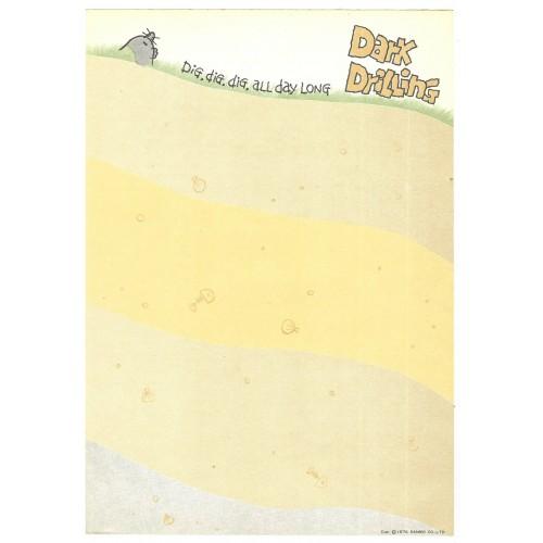 Ano 1978. Papel de Carta Dark Drilling Vintage Sanrio
