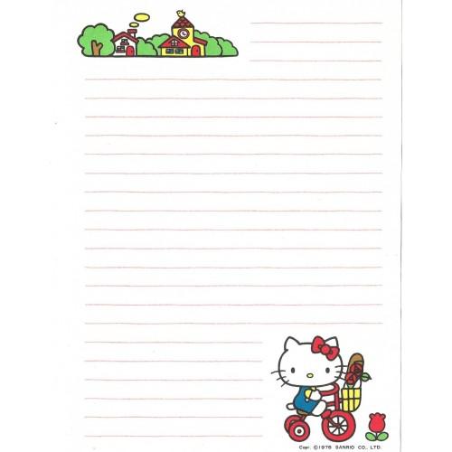 Ano 1976. Papel de Carta Hello Kitty Antigo (Vintage) Go Shopping Sanrio