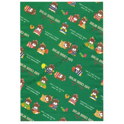 Ano 1985. Papel de Carta AVULSO Fun Come Alive CVD Vintage Sanrio