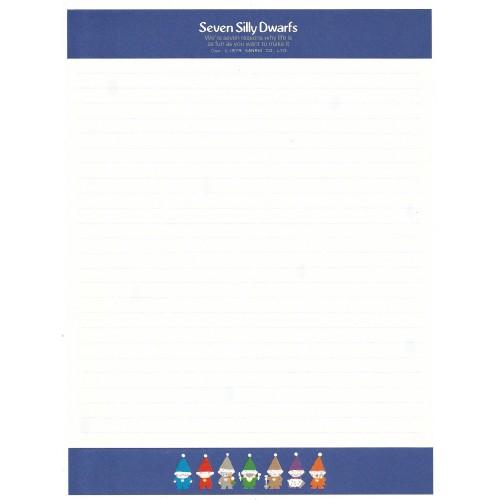 Ano 1979. Papel de Carta AVULSO Seven Silly Dwarfs CAZ Vintage Sanrio