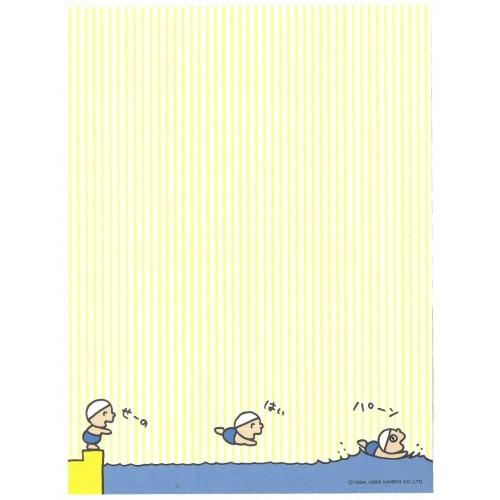 Ano 1989. Papel de Carta Minna no Tabo Swimming Sanrio Vintage