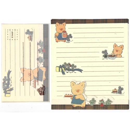 Ano 1991. Conjunto de Papel de Carta Zashikibuta TP Vintage Sanrio