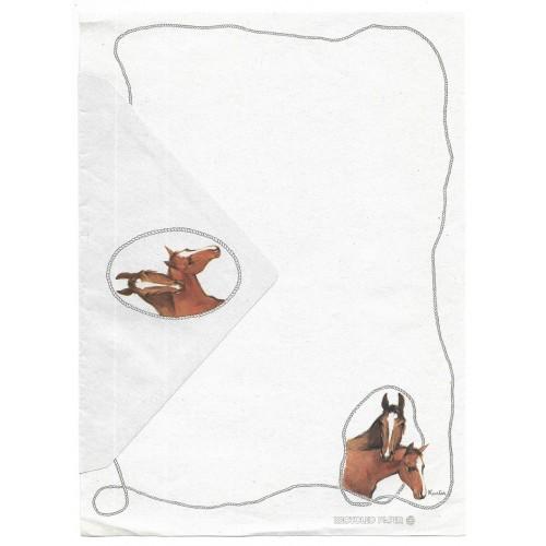 Conjunto de Papel de Carta Antigo Coleção Kartos - Cavalos