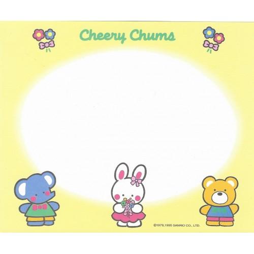 Ano 1995. Papel de Carta Cheery Chums CAM Sanrio
