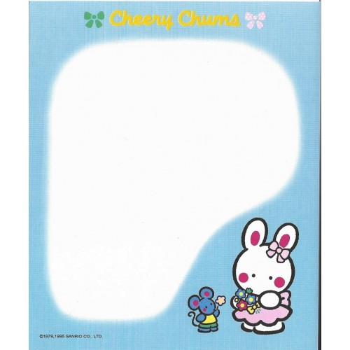 Ano 1995. Papel de Carta Cheery Chums CAZ Sanrio