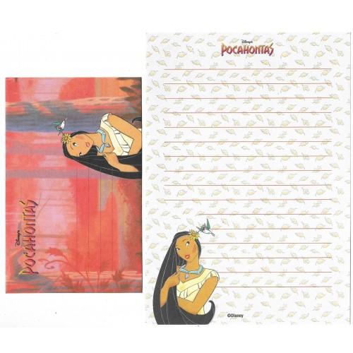 Conjunto de Papel de Carta ANTIGO Personagens Disney Pocahontas CLL