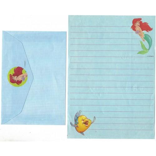 Conjunto de Papel de Carta Ariel A Pequena Sereia Disney