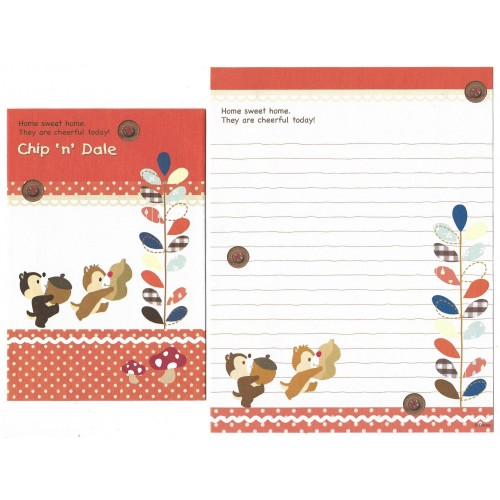Conjunto de Papel de Carta Chip'n Dale Home Sweet Home Disney